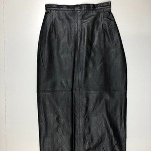 Contempo Casuals vintage leather pencil skirt